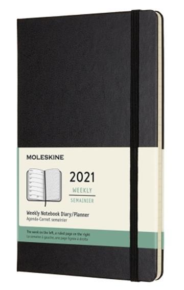 Moleskine 2021  Weekly Large Hardcover Diary: Black - Moleskine