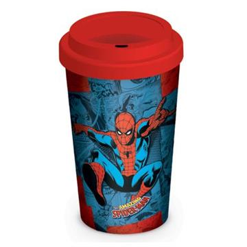 Marvel Retro: Spider-Man Comic Travel Mug - Pyramid