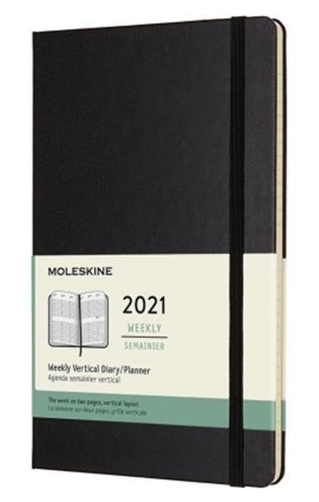 Moleskine 2021  Weekly Large Hardcover Vertical Diary: Black - Moleskine