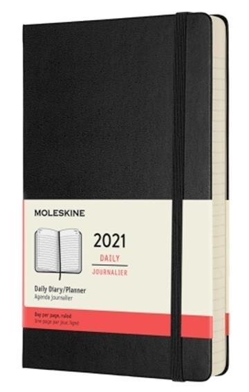 Moleskine 2021  Daily Large Hardcover Diary: Black - Moleskine