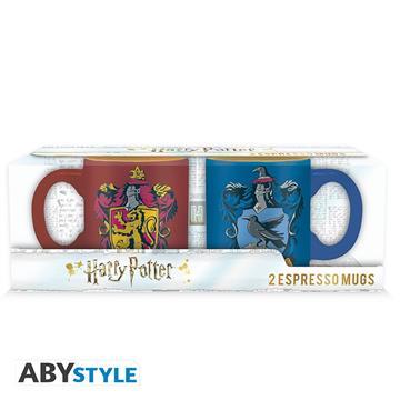 HARRY POTTER - Set 2 espresso mugs - Gryffindor & Ravenclaw 110 ml - Abysse Corp