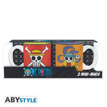 ONE PIECE - Set 2 espresso mugs Luffy & Nami emblems 110 ml - Abysse Corp
